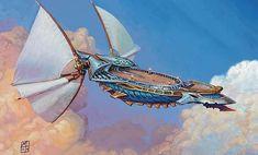Weatherlight airship