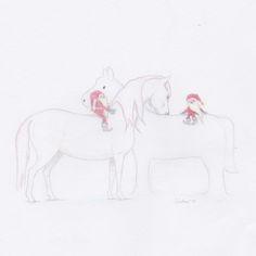 December 19th - Bon found a snow horse friend. Joulukuun 19. - Bon löysi lumihevosystävän.