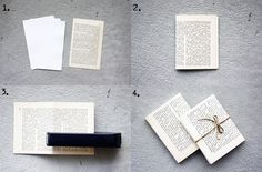 DIY Book page notebook, via Morning Creativity Creative Crafts, Fun Crafts, Diy And Crafts, Diy Projects To Try, Craft Projects, Craft Ideas, Craft Gifts, Diy Gifts, Homemade Journal