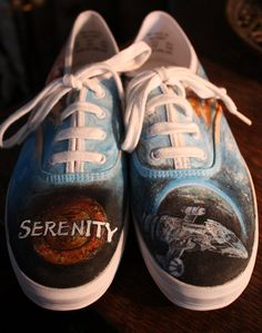 hand painted #Firefly shoes.  #Serenity  #Browncoats
