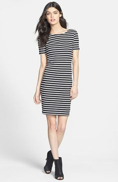 Sanctuary Stripe Scoop Back Cotton Dress