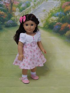 Village Rose  Vintage styled dress for American by cupcakecutiepie, $47.00