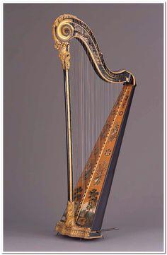 Pedal harp  about 1785 Godefroi Holtzman (French, active 1780–1794)  Object Place: Paris, France