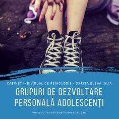 Grupuri de dezvoltare personală pentru adolescenți 😍 Optimizarea propriilor comportamente, obiceiuri, moduri de a gandi sau tendinte de a actiona. Aceste grupuri se bazeaza pe procese de autocunoastere, schimbare a atitudinilor sau tiparelor de comportament, invatarea reciproca in cadrul grupului, cu scopul cresterii personale spre o noua treapta a propriei dezvoltari. ☎️ 0721.213.766 📧 cabinet@iuliaopritapsihoterapeut.ro 👉 www.iuliaopritapsihoterapeut.ro