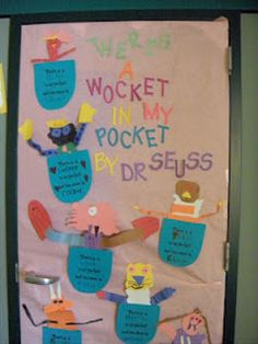 Dr. Seuss door decorated by the office staff for Read ...