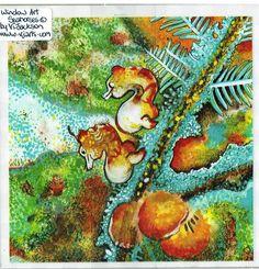 Seahorses Window Art Vj Art, Window Art, Seahorses, Painting, Ebay, Painting Art, Paintings, Painted Canvas, Drawings