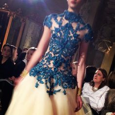"""WSJ Reporter @Elizabeth Holmes calls this """"strategically placed embroidery"""" at the Marchesa show on Wednesday. #marchesa #nyfw"""