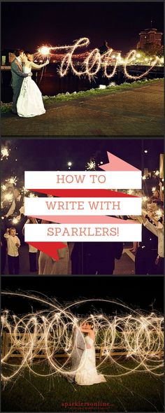 Tips tricks for writing with wedding sparklers!sparklers for wedding;sparklers at wedding; Sparklers Fireworks, Wedding Fireworks, Wedding Sparklers, Wedding Ceremony, Our Wedding, Dream Wedding, Trendy Wedding, Wedding Themes, Wedding Table