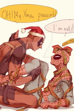 spideypool christmas - Google Search