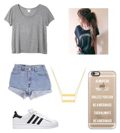 """Untitled #519"" by jessica-smith-xxv ❤ liked on Polyvore featuring Monki, Levi's and Casetify"