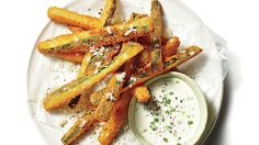 Fried Zucchini Straws - 58 Summer Farmers' Market Recipes - Southern Living - One bite of these Fried Zucchini Straws and you'll be hooked.   Recipe:Fried Zucchini Straws
