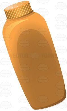 Basic Orange Baby Powder Container #antiitch #baby #babyneeds #babypowder #basic #bottle #child #freshfeel #fresh. #infant #itching #kid #medicine #perfume #plasticbottle #powder #solid #squeezable #talc #talcumpowder #toiletarticle #toiletry #vector #clipart #stock