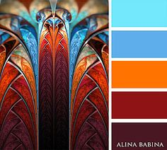 Colour scheme palette with 2 shades of blue, orange, red and burgundy. A 5 colour combination Yarn Color Combinations, Color Schemes Colour Palettes, Orange Color Schemes, Colour Pallette, Beautiful Color Combinations, Color Balance, Inspiration Art, Design Seeds, Color Swatches