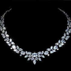 White Gold Plated Poem of Spring Top Quality Swiss CZ Necklace