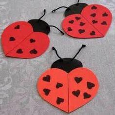 ladybug hearts craft