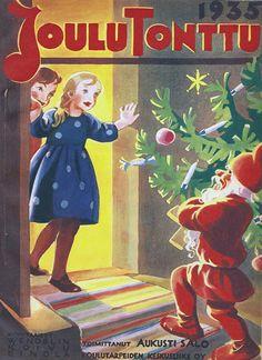 Martta Wendelin teki lukemattomia lehtikansia. Tässä on Joulutonttu 1935.