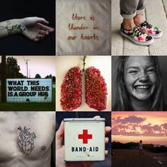 Pukwudgie Aesthetics ~There is thunder in our hearts|What this world needs is a group hug| Band-Aid~