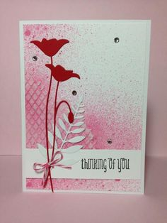 Prim poppy die (MB), embossing paste on a stencil (MB also), glimmer mist - Beesmom at Cards and Paper Crafts at Splitcoaststampers