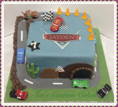 Cars racetrack cake