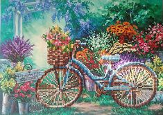 Bicycle in the Garden Diamond Painting Home Decoration