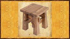 Табурет под старину Енисей из массива древесины