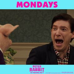 Keeping calm on a Monday like…   #PeterRabbitMovie in theaters February 9th.