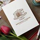 Wholesale Letterpress Greeting Card - Birthday Wishes, make sure you stuff yourself silly