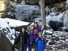 Last weekend we hiked over to Anglin Falls near Berea, KY.  Not one of the most popular falls in KY but a beautiful hike on a winter day!  Click the picture to get directions and read my review! @Kentucky Tourism  #anglinfalls