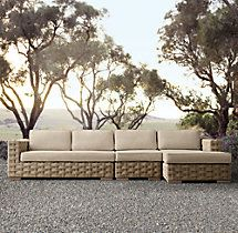 """54"""" Rutherford Two-Seat Armless Sofa Cushion"""