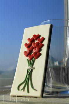 pretty heart bouquet