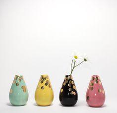 Mint Polka Teardrop Vase, www.babasouk.ca