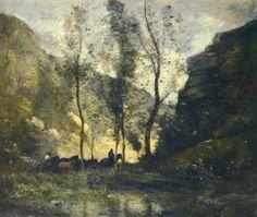Jean-Baptiste Camille Corot - Les Contrebandiers