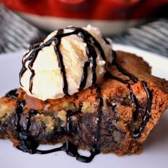 Chocolate Chip Cookie Pie--