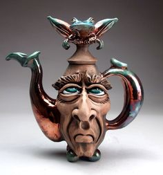 Frog Face Jug Teapot Pottery folk art sculpture by Mitchell Grafton  | Pottery & Glass, Pottery & China, Art Pottery | eBay!