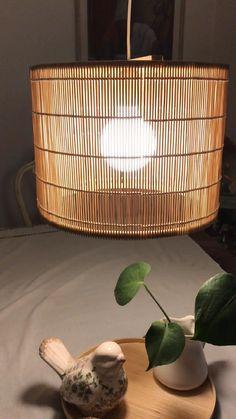 Diy Pendant Light, Diy Light, Wicker Lamp Shade, Deco Boheme, Fabric Lampshade, Diy Hanging, Wooden Diy, Decoration, Diy Home Decor