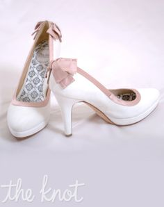 Wedding Shoes with Rose Bows
