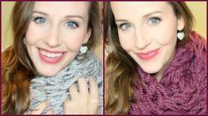 Bulky Fall Scarf DIY: Arm Knitting Tutorial
