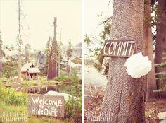 Emily Heizer Photography with Flair Sacramento, CA, Salt Lake City UT, Washington DC Weddings: Lake Tahoe Hideout Pink Ombre Wedding near Kirkwood (Ryan & Davids Hideout Wedding) More signs