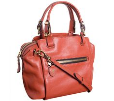 Keep style in the palm of your hand--or slung over your shoulder--with the Alexis pebble-leather satchel from orYANY. QVC.com