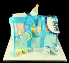 Nappy (Diaper) Bag - by littleacrecakemaker @ CakesDecor.com - cake decorating website