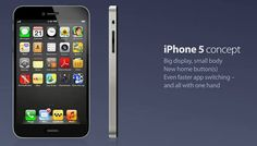 Apple iPhone 5 Concept Sports Dual Side Home Buttons