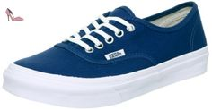 Vans U Authentic Slim, Baskets mode mixte adulte - Bleu (Dark Denim/True White), 38 EU - Chaussures vans (*Partner-Link)
