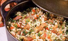Arroz de Carreteiro, drayman's rice. It is a traditional dish from Rio Grande do Sul. Photo: Mauro Holanda