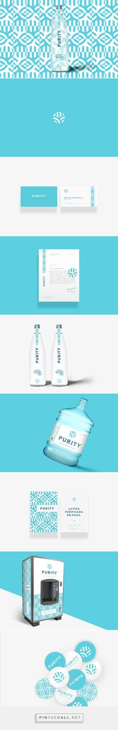 PURITY Water Branding and Packaging by Pepe Gil | Fivestar Branding – Design and Branding Agency & Inspiration Gallery | #PackagingInspriation #BrandingInspiration