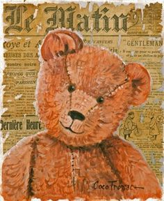 Old Teddy Bears, Antique Teddy Bears, Boyds Bears, Bear Silhouette, Vintage Silhouette, Teddy Bear Pictures, Bear Pics, Ted Bear, Bear Clipart
