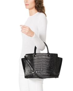 Michael Kors SELMA in Croco Grey