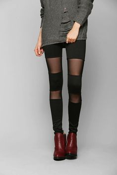 Sparkle & Fade Mesh-Inset Legging