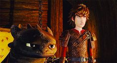 Graphics Riders of Berk < RTTE. Hiccup and Toothless are not amused.