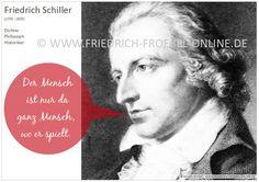 Poster mit einem Zitat/Spruch von Friedrich Schiller zum Spiel. Gehört zu einer Serie mit Zitaten zum Spiel des Kindes.