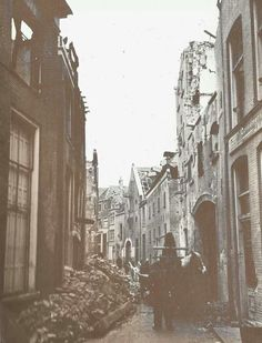 Polstraat, Deventer. After being bombed on 6 february 1945